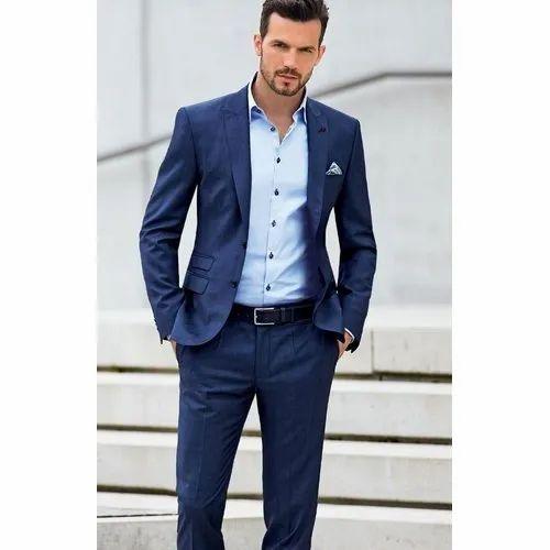 Mens Suit Navy Blue Mens Suit Manufacturer From Pune