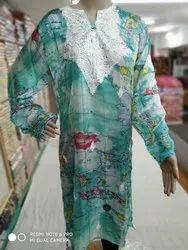 Pashmina Silk Embroidery Kurti