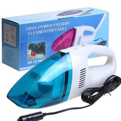 Plastic Blue & White 12V Portable Mini Car Vaccum Cleaner