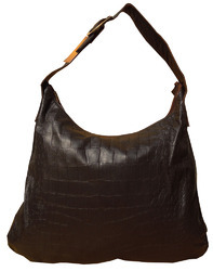 Spice Art Brown Goat Croco Handbag