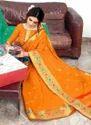 Casual Wear Mango Silk Sarees