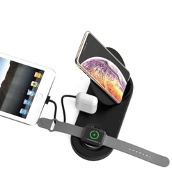 ROQ W7 5in1 Multi-Function Appliance for Phone,Watch,Headphone & Tablet Charger in One Charging Pad