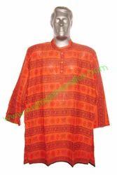 Full Sleeves Mantra Printed Cotton Kurta