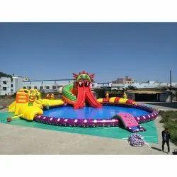 500 Sq Feet Multply color Inflatable waterpark, For Amusement Park