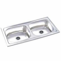 stainless steel glossy double bowl kitchen sink id 14658577291 rh indiamart com kitchen sink cheap uk kitchen sink price in india