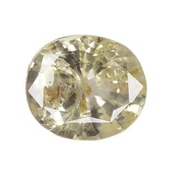 Oval - Cut SI Clarity Natural Yellow Sapphire