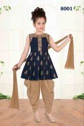 Kids Young Girls Patiala Dhoti Suits