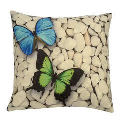 Butterfly Jute Cushion Cover