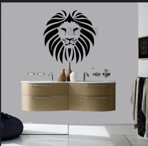 lion facet wall sticker, दीवार के स्टीकर - phoenix