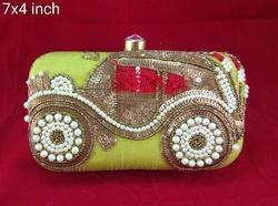 Cotton Fabric Handmade Embroidered Clutch Purse