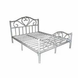 Powder Coated Designer SS Bed, Double Bed, for Home
