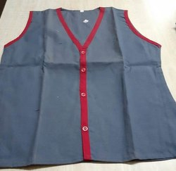 Girls Grey School V Neck Waist Neck