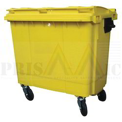 Polyethylene Four Wheeled Dustbin, Capacity: 1100 liter