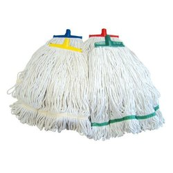 Ecokleen Plastic Pole Color Coded Cotton Mops, for Floor Cleaning