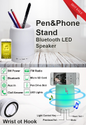 Pen & Phone Stand Bluetooth LED Speakers