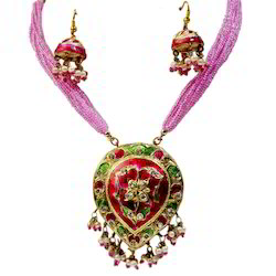 Pink Lacquer Necklace Set 166