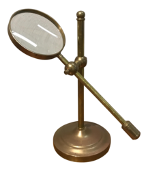 Vintage Brass Magnifying Glass with Stand