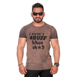 Half sleeve Cotton Mens Round Neck Printed T Shirt