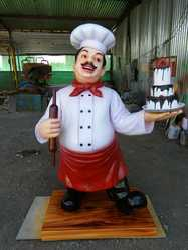 FRP Chef Statue