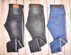 Ankle Length Casual Wear DJ Men Knitted Dobby Tape Jeans