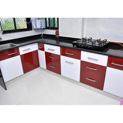 Granite L Shape Modular Kitchen