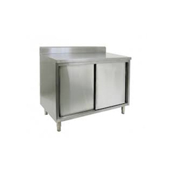 Stainless Steel Rectangular Work Table Counter With Doors, For Industrial