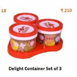 Round Delight 3 Container Set, Packaging Type: Plastic Bag