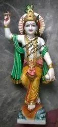 Marble Chakradhari Statue
