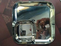 Stainless Steel Snack Plate, for Home