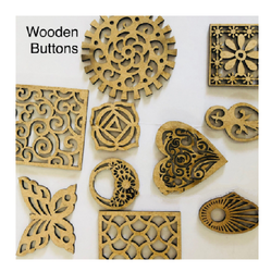 Sun Acrylam Wooden Buttons