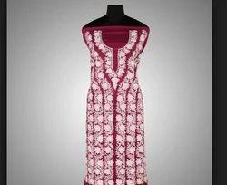 Pink Aari Embroidery Toosha Suits