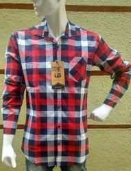 Men Fancy Casual Checks Shirts Red and Black