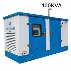 Silent or Soundproof 100KVA Ashok Leyland Diesel Generator, 415 V