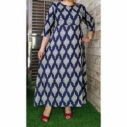 Rayon Casual Wear Ladies Printed Cotton Kurti, Size: M, Handwash