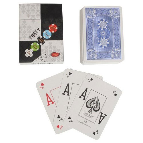 Monarch 100% Plastic Poker Playing Cards (Blue): Buy