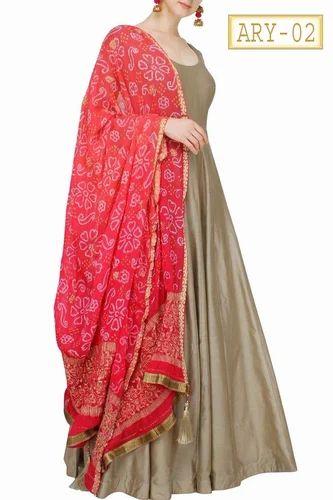 b5fe6db2b0 Silk Semi-Stitched Floor Length Anarkali Dress, Rs 1850 /unit | ID ...