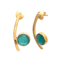 Green Onyx New Style Favourite Model Womens Gemstone Elegant Model Earring