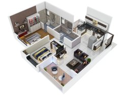 2 BHK Flat Property