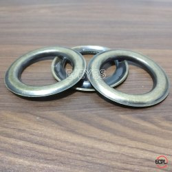 40mm Stainless Steel Curtain Eyelets & Washers Antique