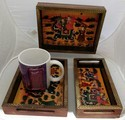 Hand Painted Wooden Trays