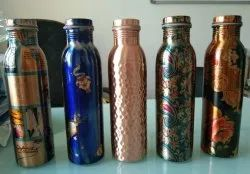 Original Round Printed Copper Water Bottle, Model Name/Number: CB1LR-03