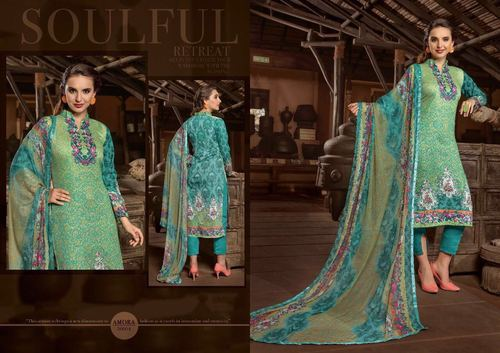 Cotton Casual Wear Printed Silk Suits, Unstitched, Rs 515 /piece ...