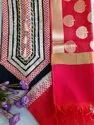 Multicolor Embroidered Chanderi Suit