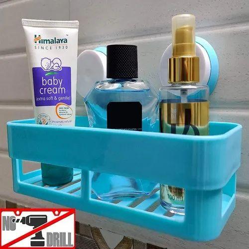 Donda Multicolor Plastic Bathroom, Plastic Shelves For Bathroom