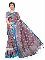 Banarasi Art Silk Party Wear Coffee Saree Blouse Piece