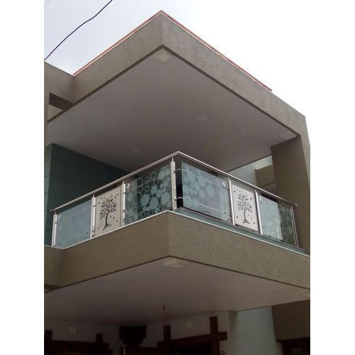 Stainless Steel And Glass Balcony Grills Rs 1200 Running Feet