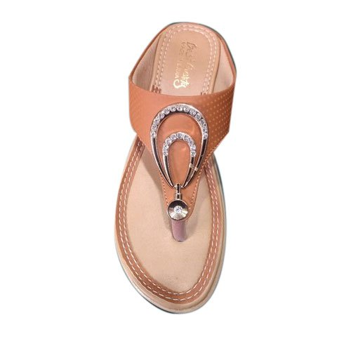 8fa8e1d7df49 Party Wear Ladies Rexine Slipper