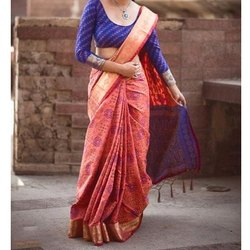 Chiffon Ladies Traditional Wear Saree, Packaging Type: Box, 5.5 M (separate Blouse Piece)