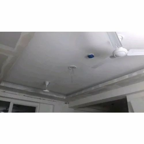 White Color Coated POP False Ceiling, Thickness: 5-10 mm