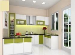 Commercial Acrylic Modular Kitchen